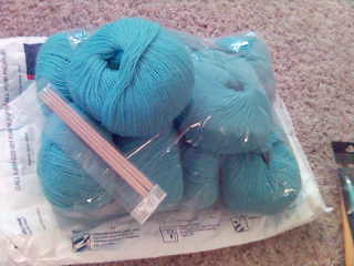100% Wool Fingering Weight, Turquoise
