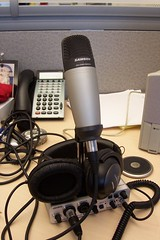 Audio recording and podcasting setup for Navarik