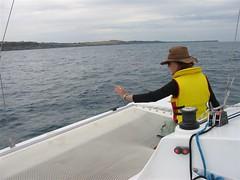 Me waving at dolphins