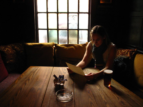 Girl studying menu (1)