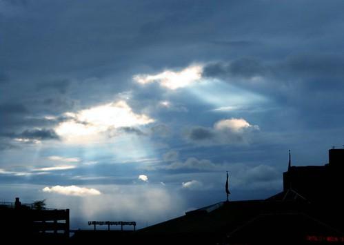 Baltimore skyline as darkness falls