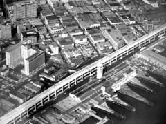 Ferry Building and Embarcadero, circa 1960 photo by Telstar Logistics