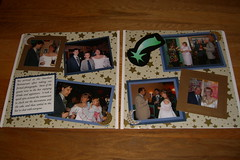 Wedding Reception Scrapbook -- Spread 1