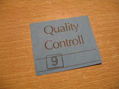 control de qualitat?