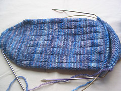 Gram's socks - in progress