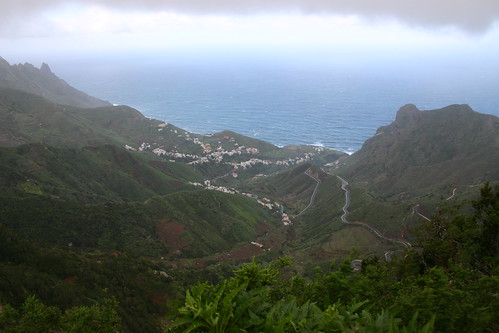 View from El Bailadero towards Taganana and the ever present Atlantic Ocean.