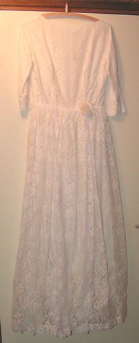 Mammas bröllopsklänning.