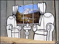 Banksy pada tembok Israel
