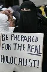 Islamic protester
