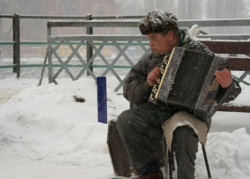 cold accordian man