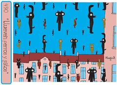 Raining dogs and cats photo by Parodias de Pinturas Famosas
