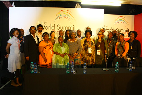 Delegates at the World Summit