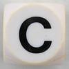 Boggle black letter C