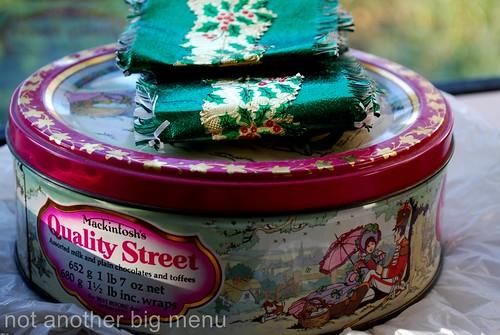Christmas meal - Quality Street