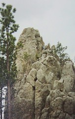 Climbing rock in the Black Hills