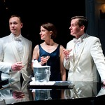 John Sanders, Kate Fry and Rob Lindley in OH COWARD! at Writers Theatre. Photos by Michael Brosilow.