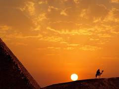 Sunset , Pyramid of Kheops, Cairo, Egypt photo by Batistini Gaston 5 million views. Thanks!