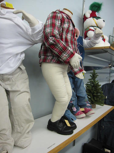 stuffed manikins should wear pants side view