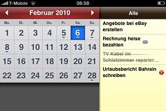 Screenshot 2do Kalenderübersicht