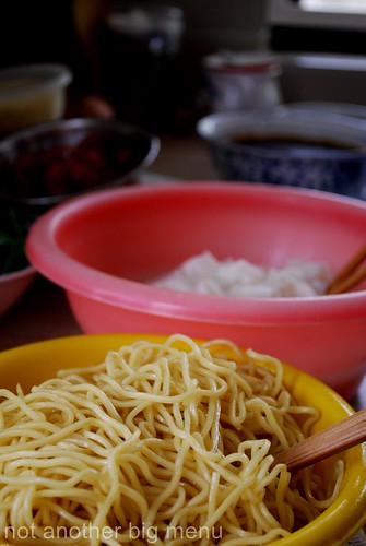 M'sian cooking - Yellow noodles