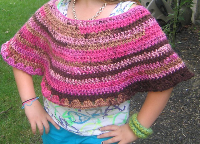 Grandmother's Pattern Book » free crochet girls flower poncho