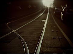 tracks at day's end photo by mugley