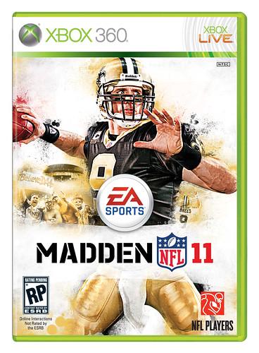 Madden NFL 11 Cover athlete Drew Brees