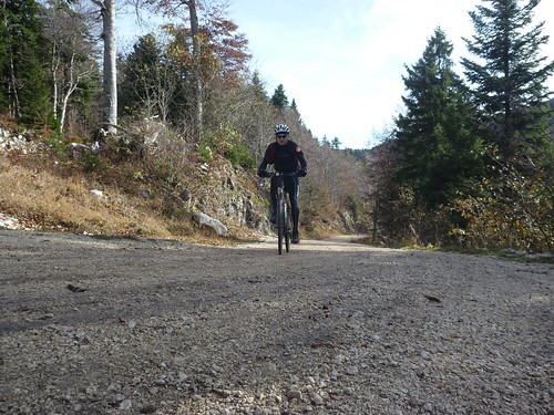 Steep stretch near Cret d'Eau