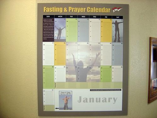 Fasting Calendar 2010 - 1