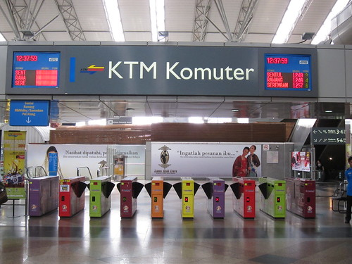 KTM Komuter KL Sentral station at ticket entry point