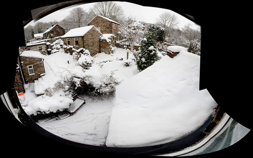 The view from my bathroom - snow!