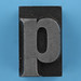 metal type letter p