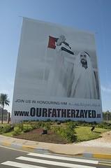 Plakat www.ourfatherzayed.ae
