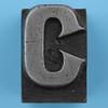 metal type letter C