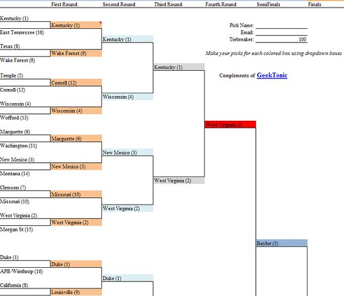 March Madness Bracket 2010
