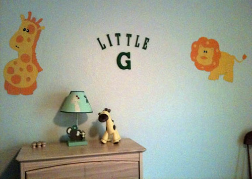 Little G's name in letters