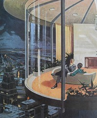 1960s Futuristic Home Interior Architecture Modern Atomic Los Angeles Advertisement Vintage Illustration photo by Christian Montone