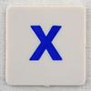 hangman tile blue letter X