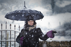 Patricia in the snow photo by Fernando Peón