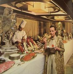 Italian Liner Raffaello- First Class Buffet photo by glen.h