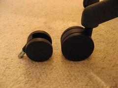 Aeron chair wheels