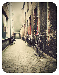 bruges in vintage photo by matthewheptinstall