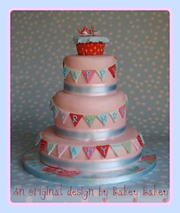 Cath Kidston Tea Party Cake photo by Bakey Bakey