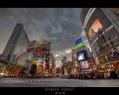 Shibuya Sunset photo by William Bullimore