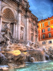 Fontana di Trevi HDR photo by CameliaTWU