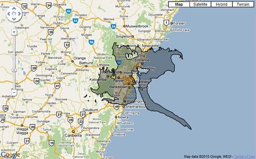 The BP Oilspill Over Sydney