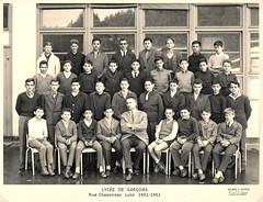 1961-62 Lycée Chaponnay LYON, 4èM5 - Professeur : M. GAYET photo by Bernard CHALAVOUX