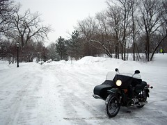 Ural at Lake Como in Snow Storm