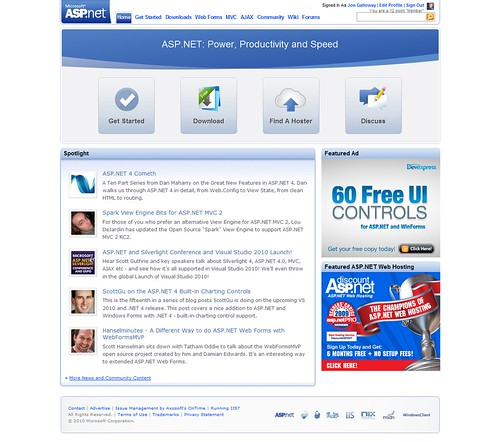 ASP.NET - Home - New