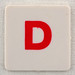hangman tile red letter D